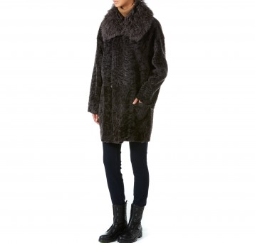 Gushlow and Cole brown merinillo shearling sheepskin coat