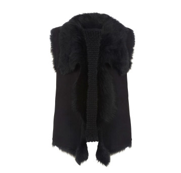 Gushlow and Cole Black Toscana Knit Back Gilet