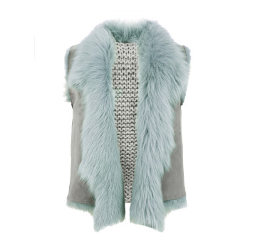 Gushlow and Cole Pastel Green Toscana Knit Back Gilet