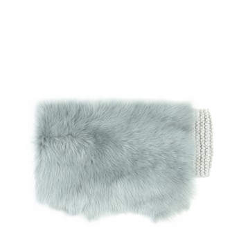 Gushlow and Cole hand knitted shearling sheepskin shrug