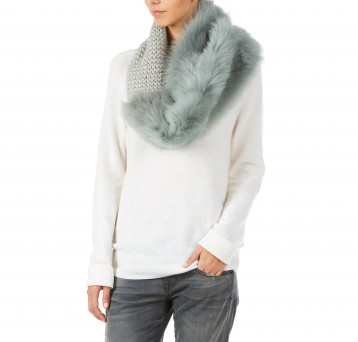 Gushlow and Cole hand knitted shearling sheepskin snood