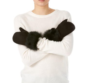 Gushlow and Cole shearling sheepskin black mittens