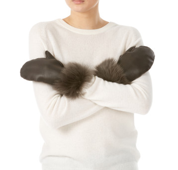 Gushlow and Cole shearling sheepskin brown mittens