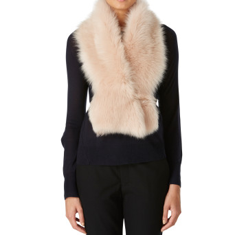 Gushlow and Cole Shearling Shawl Scarf Blossom