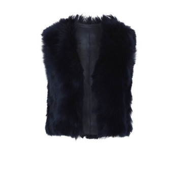Gushlow and Cole Blue Toscana Cropped Gilet