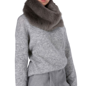 Gushlow and Cole Shearling Donut Scarf Moss Ash