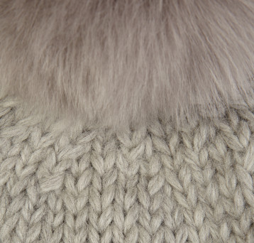 Gushlow and Cole Shearling Knitted Swatch Lavender Grey