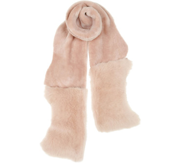 Gushlow and Cole Shearling Mixed Scarf Blossom