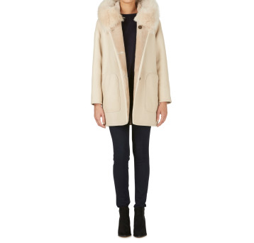 Gushlow and Cole Shearling Parka Coat Birch