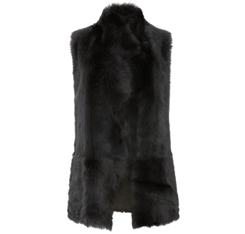 Gushlow and Cole Mixed Shearling Gilet in Graphite