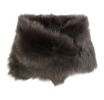 Shearling Button Snood scarf Moss