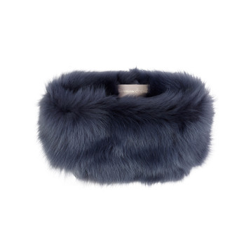 gushlow and cole shearling donut scarf- denim
