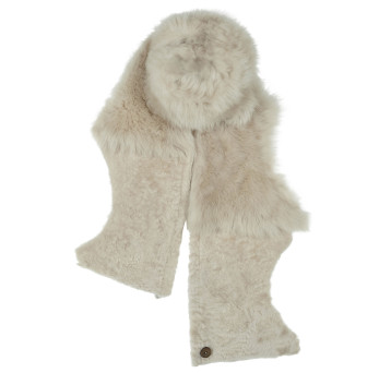 Gushlow and Cole Merinillo Shearling Gilet Scarf in Chalk