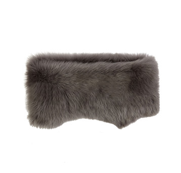 gushlow and cole shearling donut scarf- moss