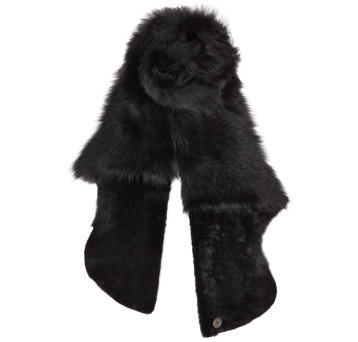 Gushlow and Cole Shearling Gilet Scarf in Black