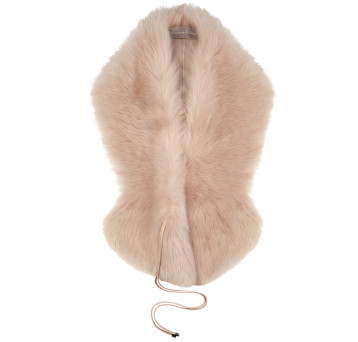 Gushlow and Cole Shearling Shawl Scarf in Blossom