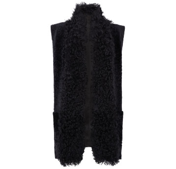 Gushlow and Cole Shearling Taper Gilet in Graphite