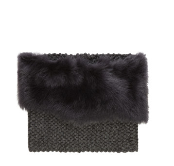 Gushlow and Cole Charcoal Grey Toscana Knitted Snood