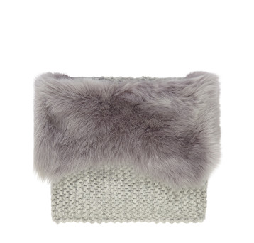 Gushlow and Cole Grey Toscana Knitted Snood