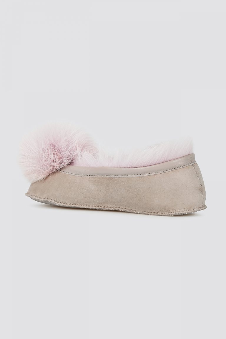lavender Shearling Ballet Slippers - women | gushlow and cole - cell image 3