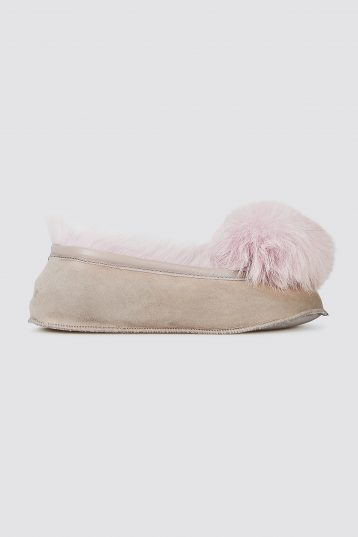 lavender Shearling Ballet Slippers - women | gushlow and cole - cell image 2