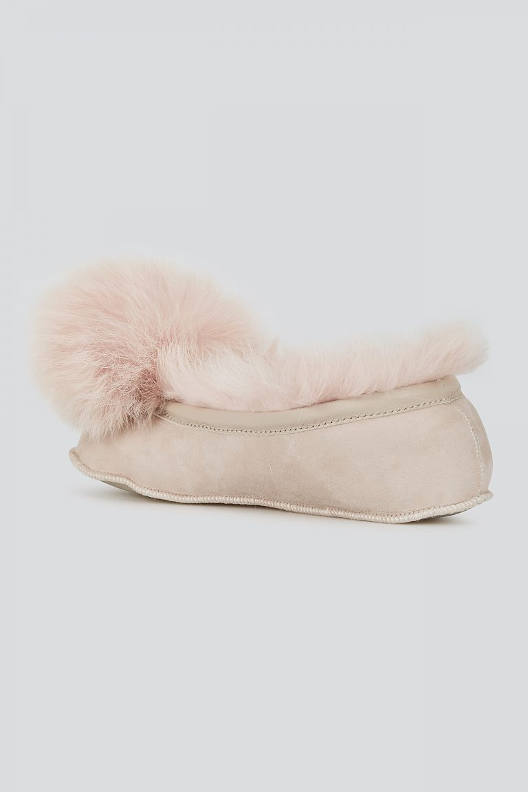pink Shearling Ballet Slippers - women | gushlow and cole - cell image 3