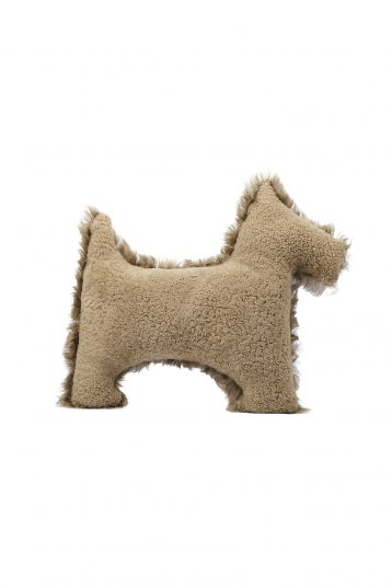 camel shearling dog cushion - homewear | gushlow and cole - cell image 2