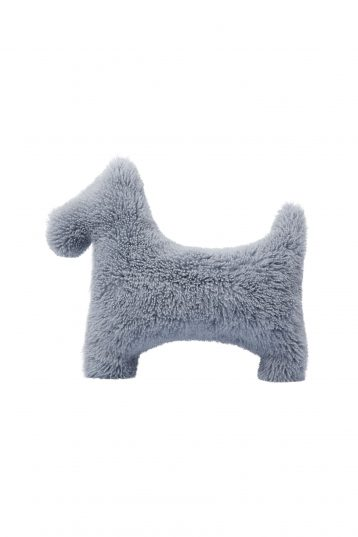 blue grey shearling dog cushion - homewear | gushlow and cole - cell image 1