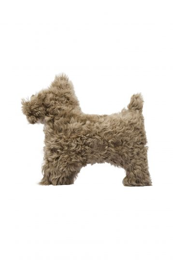 camel shearling dog cushion - homewear | gushlow and cole - cell image 1