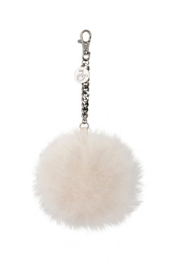 cream shearling bag charm - womens| gushlow and cole - cell image 1