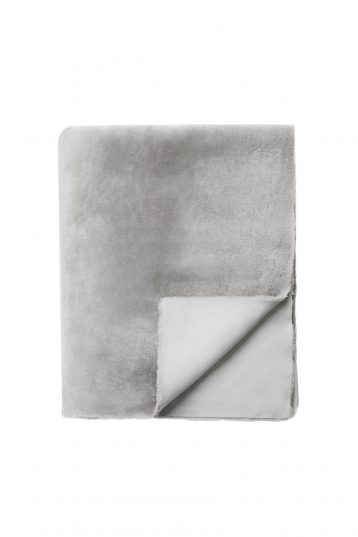 grey shearling throw - homewear | gushlow and cole - cell image 3
