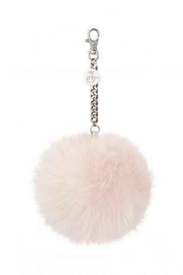 pink shearling bag charm - womens| gushlow and cole - cell image 1