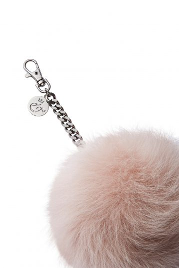 pink shearling bag charm - womens| gushlow and cole - cell image 2