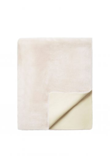 pink shearling throw - homewear | gushlow and cole - cell image 3