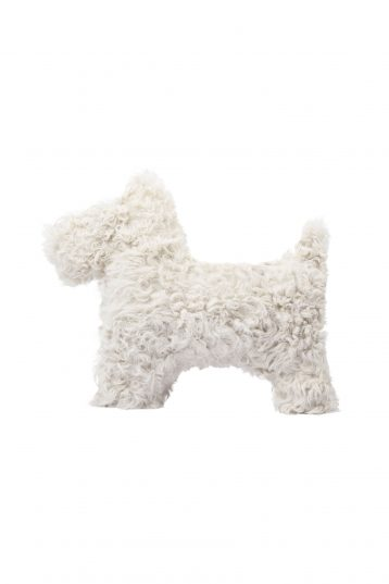 white shearling dog cushion - homewear | gushlow and cole - cell image 1