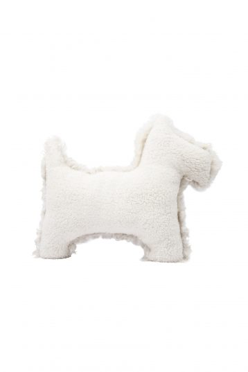 white shearling dog cushion - homewear | gushlow and cole - cell image 2