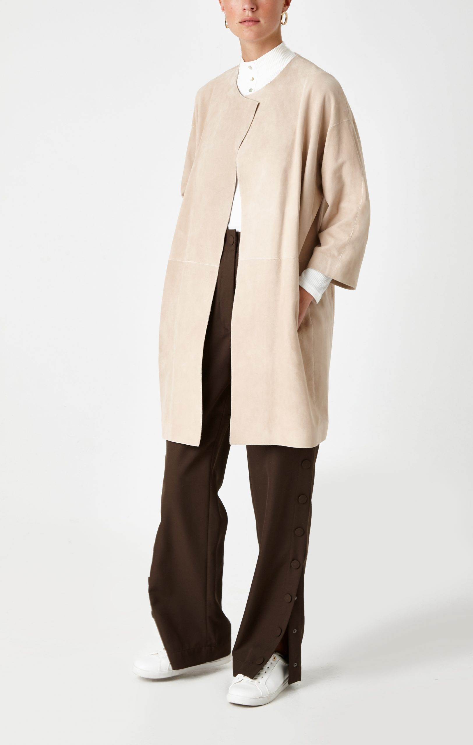 cream suede coat - women | Gushlow & Cole - CCLS0-SAN