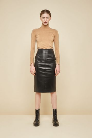 black leather pencil skirt - women | gushlow and Cole - YPEN0-BLA - 38395
