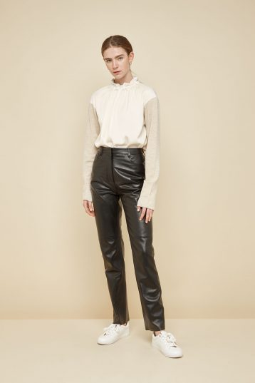 black leather trousers - women | gushlow and Cole - PJEN0-BLA - 39797