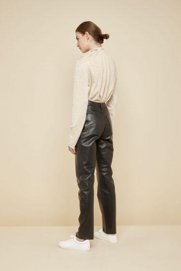 black leather trousers - women | gushlow and Cole - PJEN0-BLA - 39814
