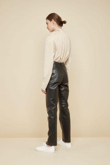 black leather trousers - women | gushlow and Cole - PJEN0-BLA - 39814