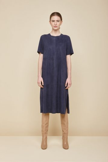 bright navy suede t shirt dress - women | gushlow and Cole - DTSHS1-IND - 36101