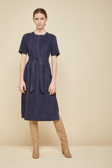 bright navy suede t shirt dress - women | gushlow and Cole - DTSHS1-IND - 36289