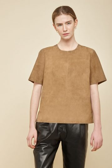camel suede t shirt - women | gushlow and Cole - TTSS0-TOR - 37739