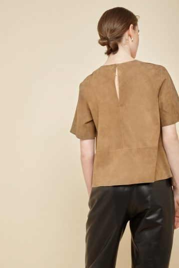 camel suede t shirt - women   gushlow and Cole - TTSS0-TOR - 37757
