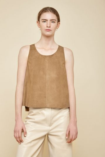 camel suede vest top - women | gushlow and Cole - TVTS0-TOR - 37898