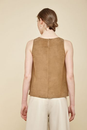 camel suede vest top - women | gushlow and Cole - TVTS0-TOR - 37924