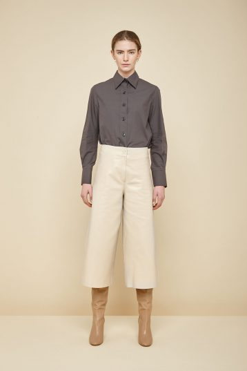 cream leather culottes - women | gushlow and Cole - PCLN0-CRE - 37979