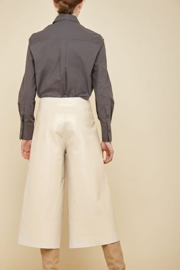 cream leather culottes - women | gushlow and Cole - PCLN0-CRE - 38065