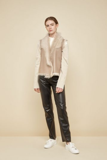 cream shearling and down gilet - women | gushlow and Cole - DRGWT-SAN - 40215